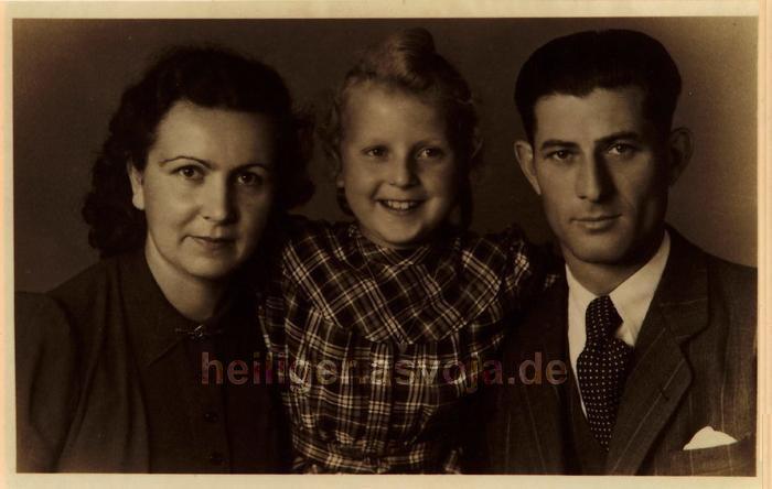 Die Familie Heiliger im Jahre 1948