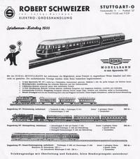 Fa. Schweizer Katalog 1955 Seite 1