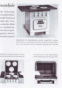 Heiliger Modellherdprospekt 1951 Rückseite
