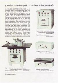 Heiliger Modellherdprospekt 1953 Rückseite
