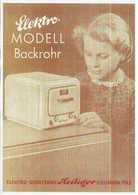 Heiliger Modellherdprospekt 1954 Vorderseite
