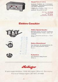Heiliger Modellherdprospekt 1972 Rückseite